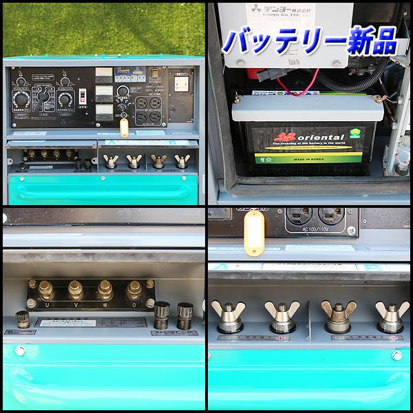 溶接機 デンヨー DLW-400ESW 2人用溶接機 アーク溶接 建設機械 防音型 ディーゼル 発電機 軽油 DENYO 中古 6H48_画像4