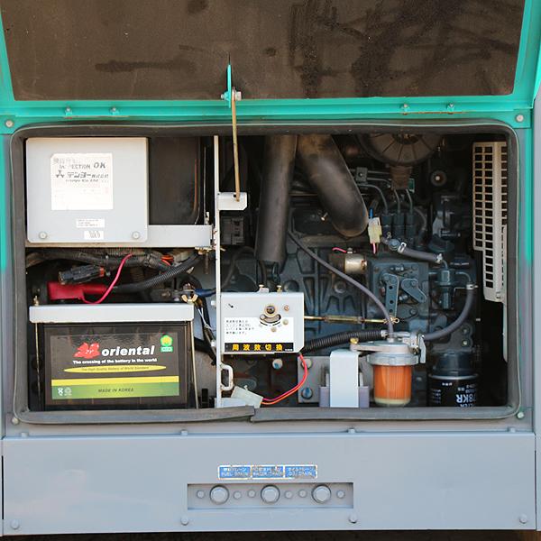 溶接機 デンヨー DLW-400ESW 2人用溶接機 アーク溶接 建設機械 防音型 ディーゼル 発電機 軽油 DENYO 中古 6H48_画像5