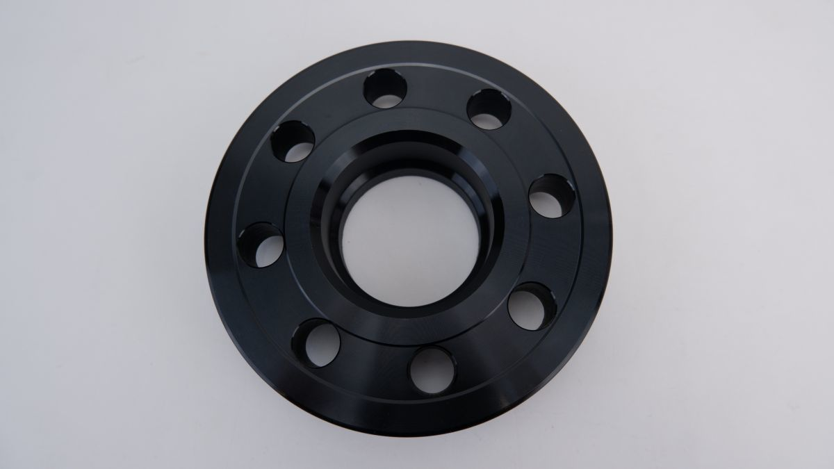 wide-tread spacer hub one body thickness 20mm PCD98 4 hole hub diameter φ58.1 M12×P1.25 taper bearing surface bolt attaching FIAT New Panda Punto