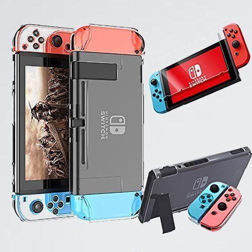 新品 目玉 Nintendo e-smile D-G4 耐衝撃 強化フィルム付 switch スイッチ ハ-ドケ-ス ドック対応 全面保護 ハ-ド カバ- ケ-ス_画像1