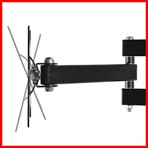 ブラック モニター テレビ壁掛け金具 10-30インチ LCDLED液晶テレビ対応 アーム式 回転式 左右移動式 角度_画像2