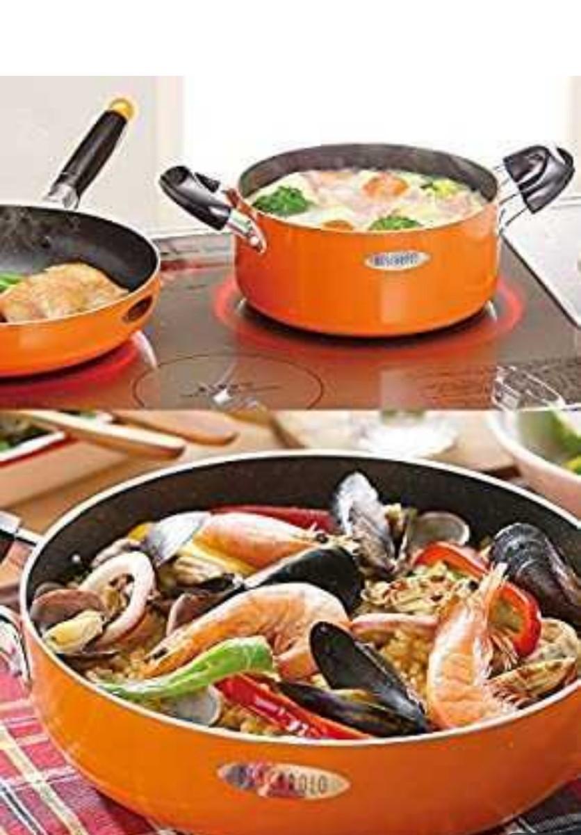 和平フレイズ キッチン用品 調理器具 両手鍋 フライパン 3点 セット IH対応 マーブルコート ペスカロロ ナール PS-421
