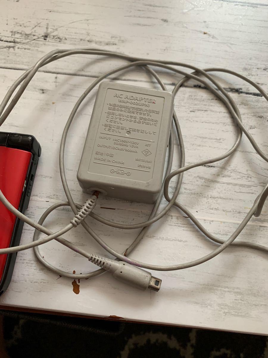 ニンテンドー3DS LL 本体レッドブラック  ニンテンドー3DS LL 充電器 初期化 ソフト付