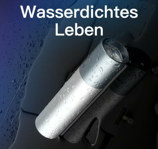 ケーブル付 懐中電灯 led 強力 USB充電式 防水 携帯 防災 シルバー