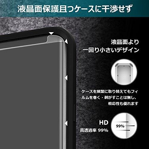 S9 Galaxy S9用強化ガラスフィルム 「ケースに干渉せず・透過率99%」 タッチ感度良好 S-PENに対応 (ガラス液晶_画像3