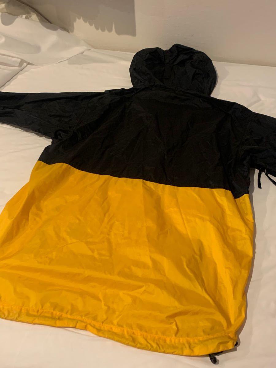 THE NORTH FACE ノース フェイス ナイロン ジャケット 黄色 黒 イエロー Lサイズ supreme NIKE