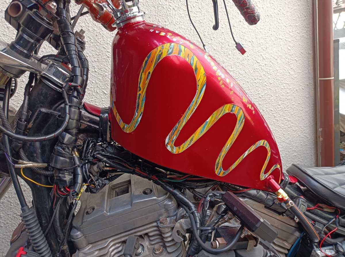 「ハーレー 87年 4速エボ スポーツスター XLH883 車体 希少 チョッパー ボバー ロングフォーク ダイナ ソフテイル」の画像3