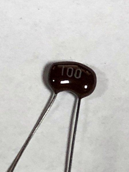 マイラーコンデンサ 100PF_画像1