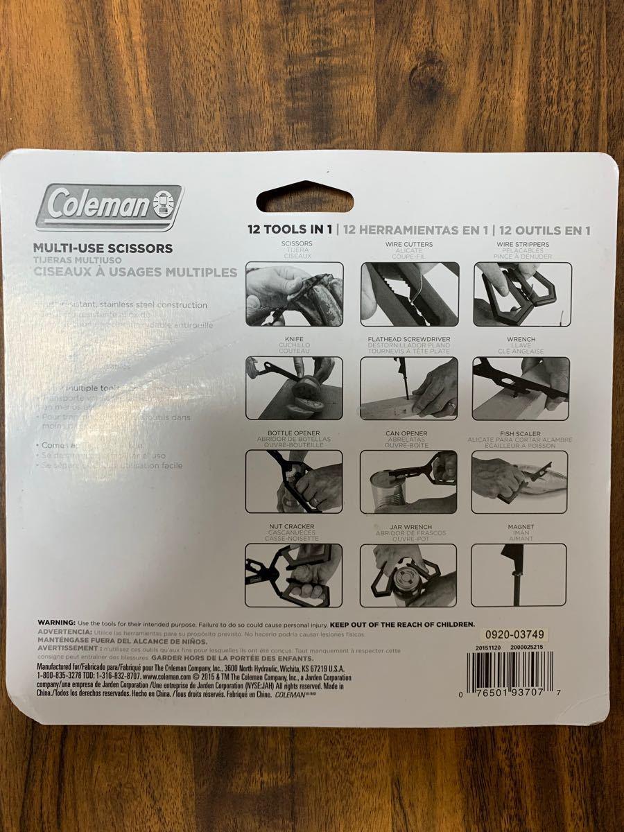コールマン新品アウトドア高級品!12in1タイプのキャンプ用ハサミ 新品!未開封アメリカ品です! Coleman 万能ハサミ