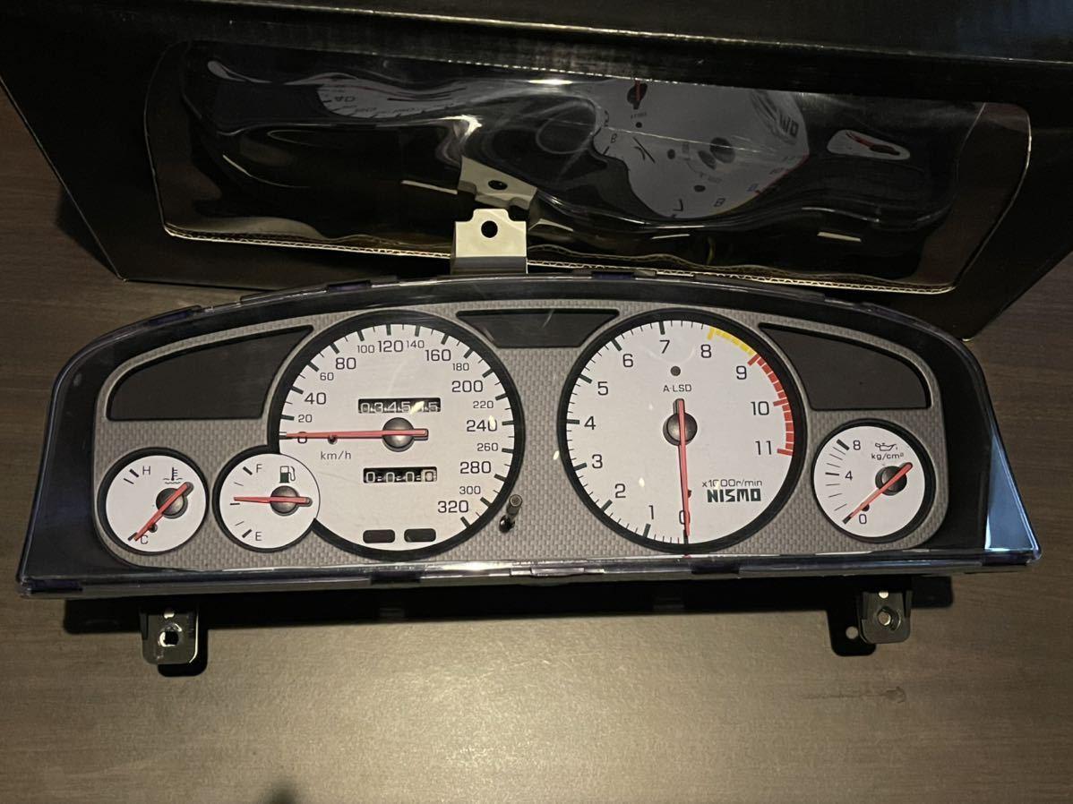 希少 BCNR33 ニスモ フルスケール メーター ホワイト 日産 スカイライン GT-R R33 nismo SKYLINE GTR