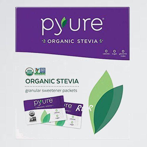 未使用 新品 Pyure PYURE W-KV Stevia Sweetener オ-ガニック ステビアスイ-トナ- 1g×120袋(120g)_画像1