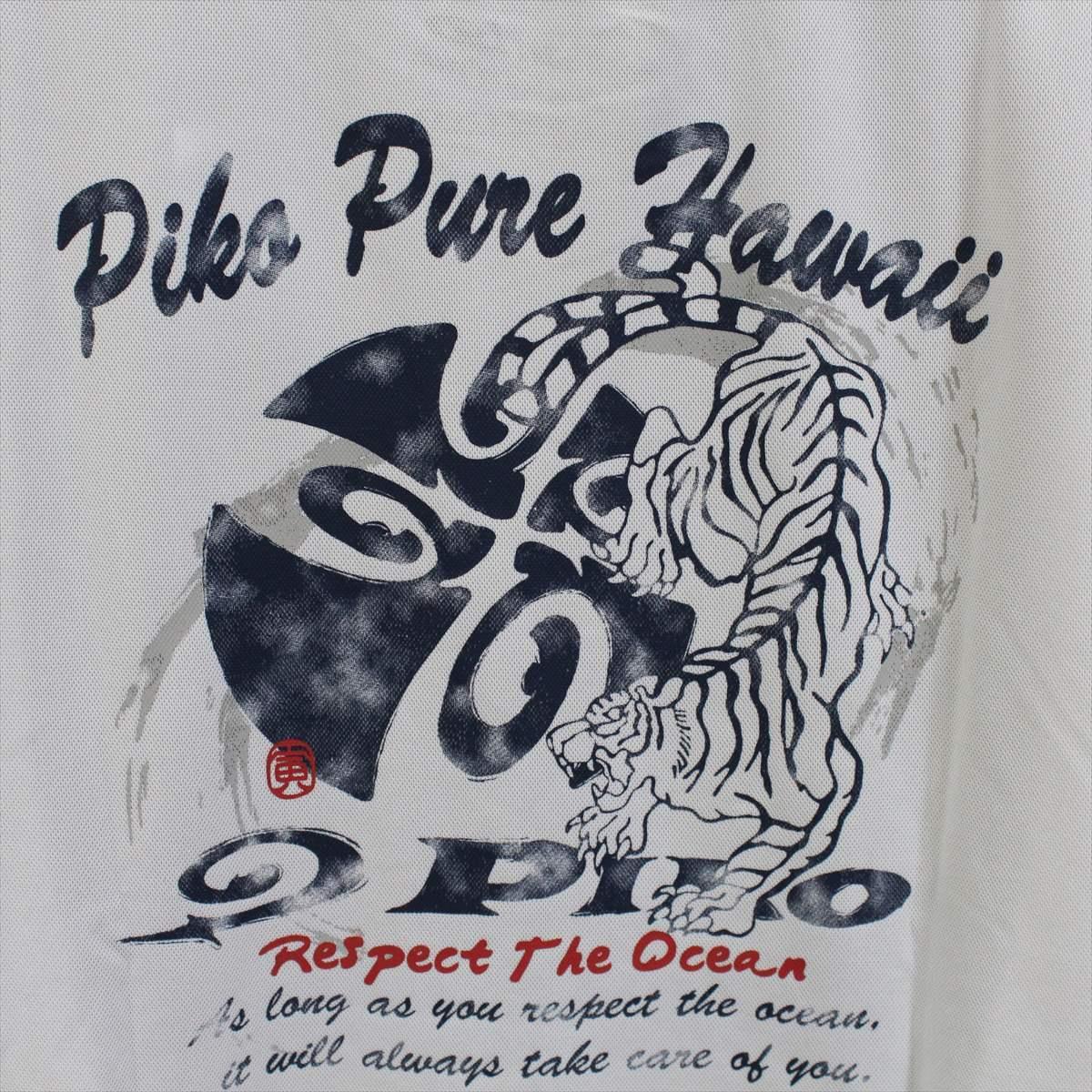 ピコ PIKO メンズ半袖Tシャツ ホワイト Mサイズ 新品 白 メッシュ_画像4