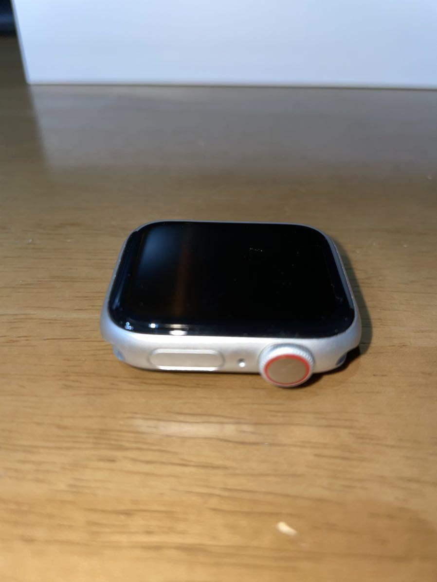 Apple Watch Series 5 GPS+Cellularモデル 40mm シルバーアルミニウムケースとホワイトバンド(MWX12J/A)_画像3