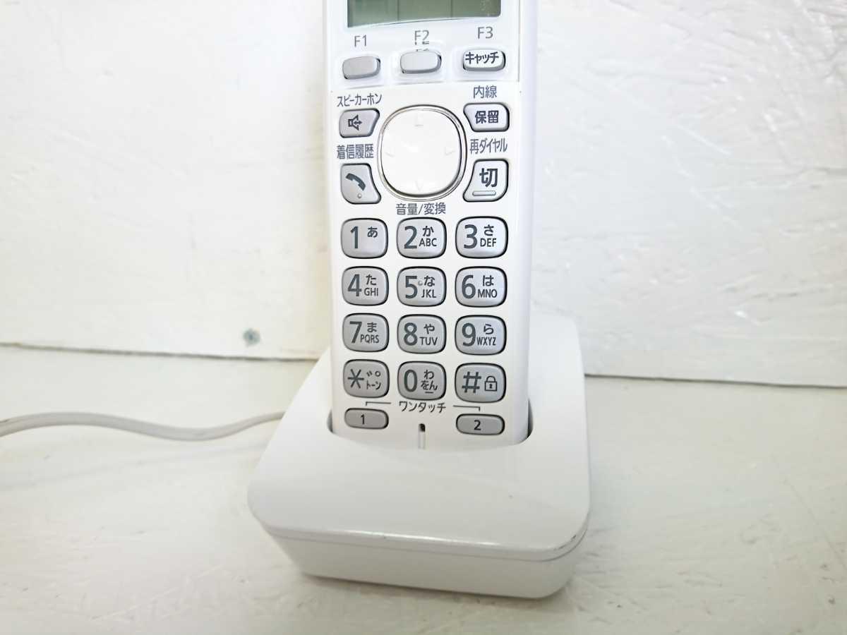 管理1126 Panasonic パナソニック コードレス 電話機 子機 KX-FKD503-W _画像3