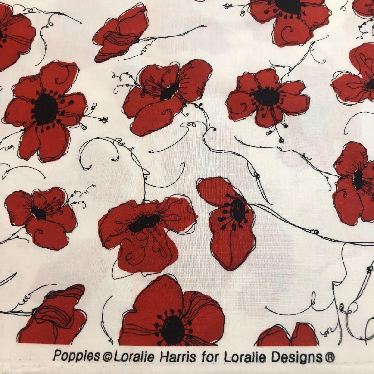 ロラライハリス  Red Poppies生地