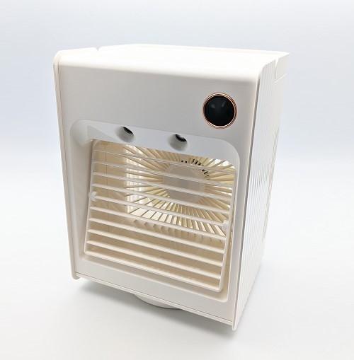 【ホワイト】卓上冷風機 冷風機 残量デジタル表記 ミスト機能 冷風扇 【新品】扇風機 小型 自動首振り USB充電式 ライト付き 3段階調整_画像7