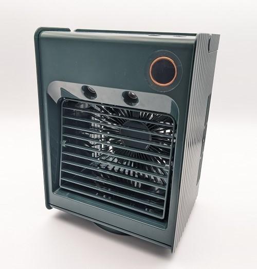 【グリーン】卓上冷風機 冷風機 残量デジタル表記 ミスト 機能 冷風扇 【新品】扇風機 小型 自動首振り USB充電式 ライト付き 3段階調整_画像7