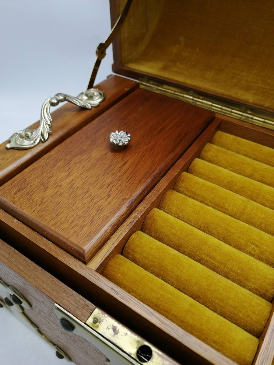 h2363 アクセサリーケース ジュエリーボックス 宝箱 トレジャーボックス 宝石箱 現状品_画像2