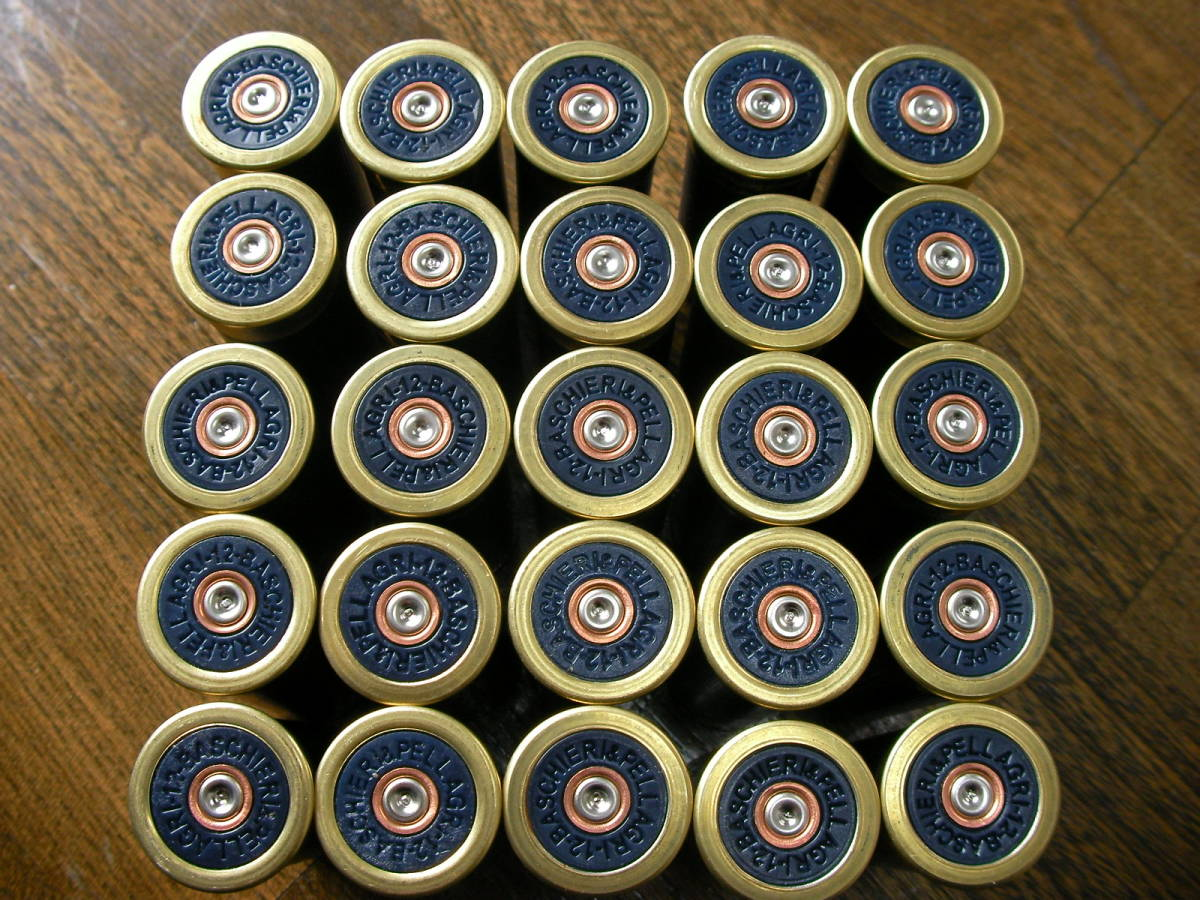 [小物] B&P F2空薬莢 ショットガン ダミーカート 25本セット M870 M1 M3 M4 M24 M700 M40 VSR L96 98K M37 SDV APS _画像4