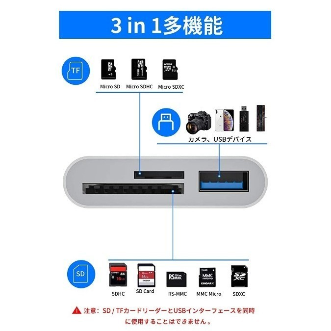 カードリーダー iPhone Lightning