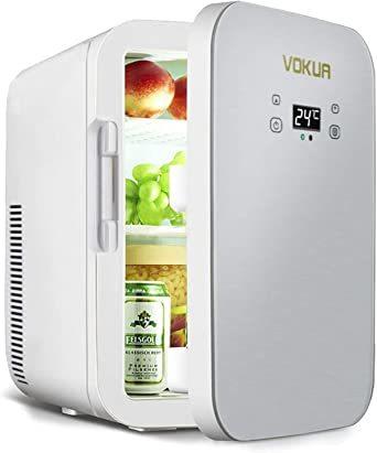 VOKUA 冷温庫 10L ポータブル 小型 冷蔵庫 -9℃~65°C 温度調節可 ワンタッチ操作 LCD温度表示 保温_画像1