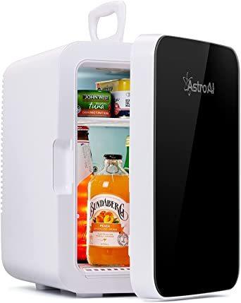 ブラック AstroAI 冷蔵庫 小型 ミニ冷蔵庫 小型冷蔵庫 冷温庫 0 ℃~60℃ 10L 化粧品 小型でポータブル 家庭 _画像1