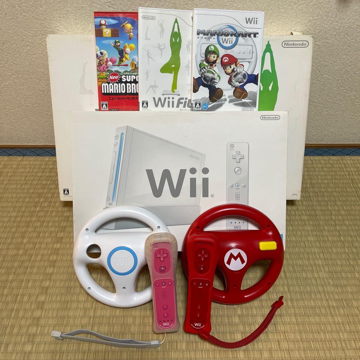 マリオカート Wii Wii Fit ソフト 周辺機器