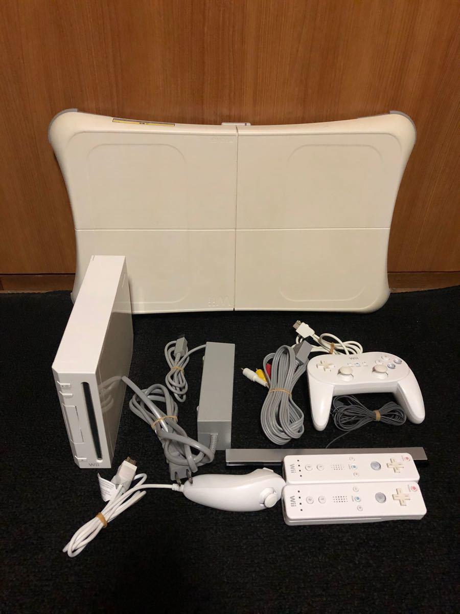 Wii本体 ソフト6本 バランスボードセット 箱無し説明書無し