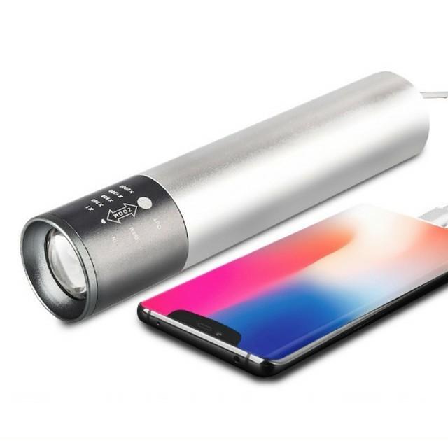 ☆USBケーブル付き☆強力 防水 携帯電話充電 懐中電灯 led USB充電式