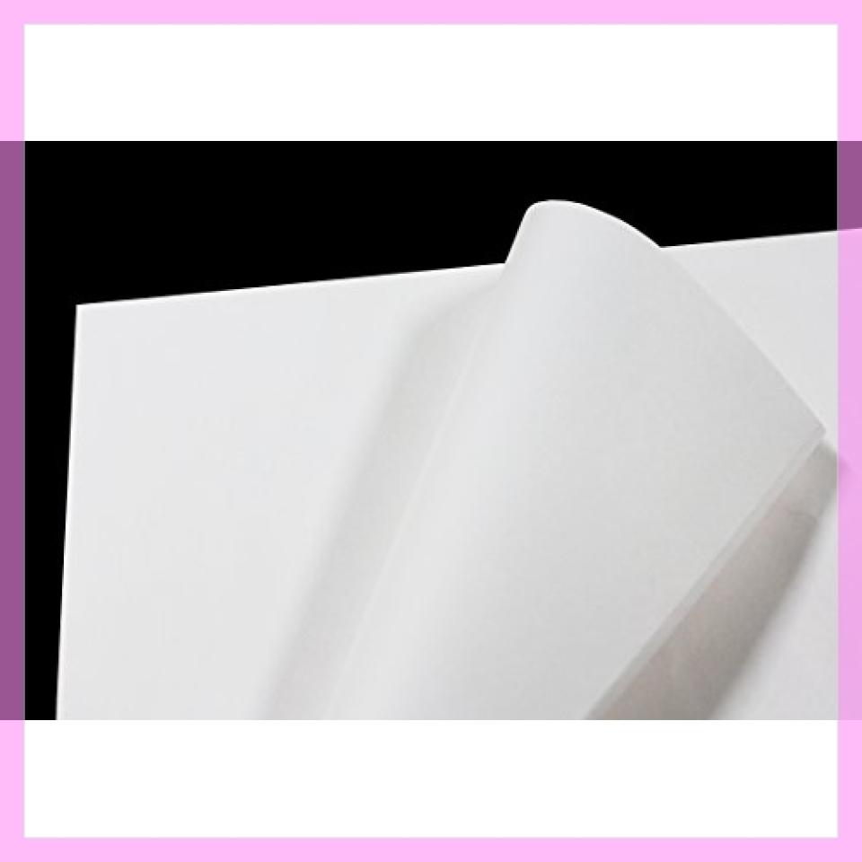 新品!♪フジパック 純白紙 片面ツヤ加工 包装紙 100枚L27C_画像1