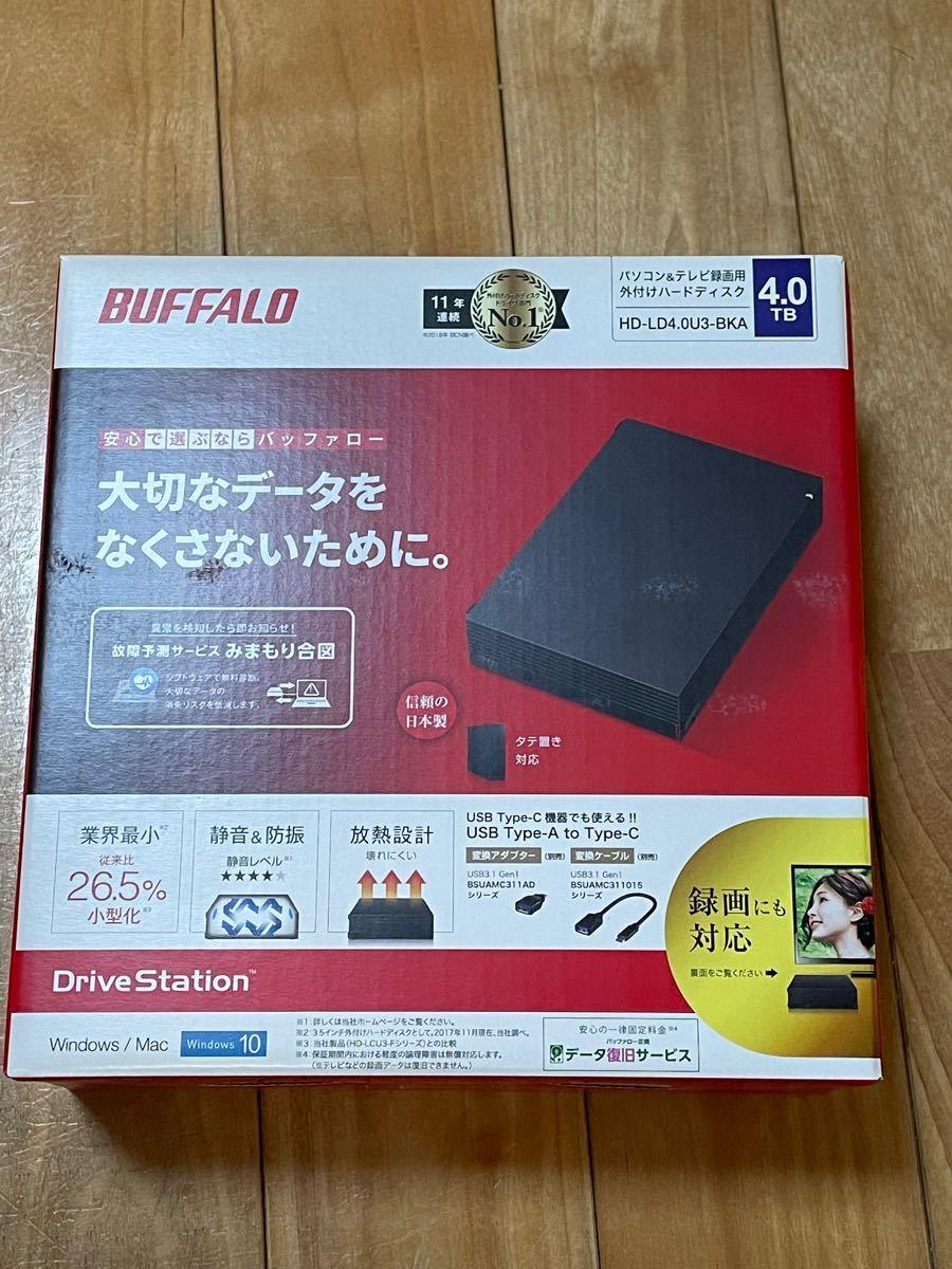 BUFFALO 外付けHDD 4TB 新品未開封