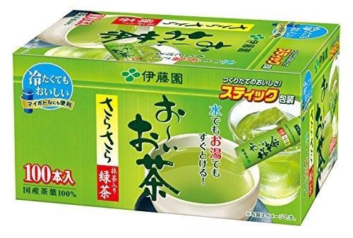 緑茶 100本 (スティックタイプ) 伊藤園 おーいお茶 抹茶入りさらさら緑茶 スティックタイプ 0.8g×100本_画像1