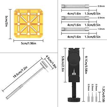 新品腕時計バンド調整 10点セット 腕時計ベルト調整交換修理ツール サイズ調整工具 耐久性7C6F_画像2