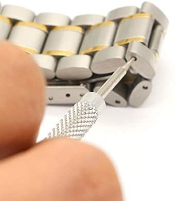 新品腕時計バンド調整 10点セット 腕時計ベルト調整交換修理ツール サイズ調整工具 耐久性7C6F_画像7