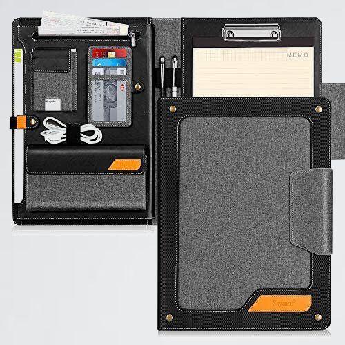 未使用 新品 バインダ- A4 F-C6 多機能フォルダ- Skycase クリップボ-ド A4 ノ-トカバ- クリップファイル 高級PUレザ-_画像1