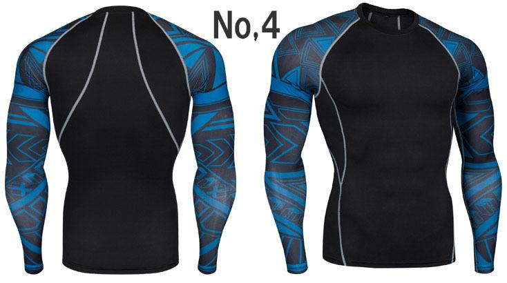 コンプレッションウエア No,4 Mサイズ メンズ 加圧インナー アンダーシャツ トレーニングウエア スポーツウエア 長袖 吸汗 速乾 p20