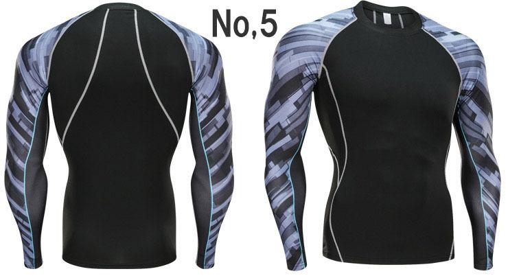コンプレッションウエア No,5 Lサイズ メンズ 加圧インナー アンダーシャツ トレーニングウエア スポーツウエア 長袖 吸汗 速乾 p20