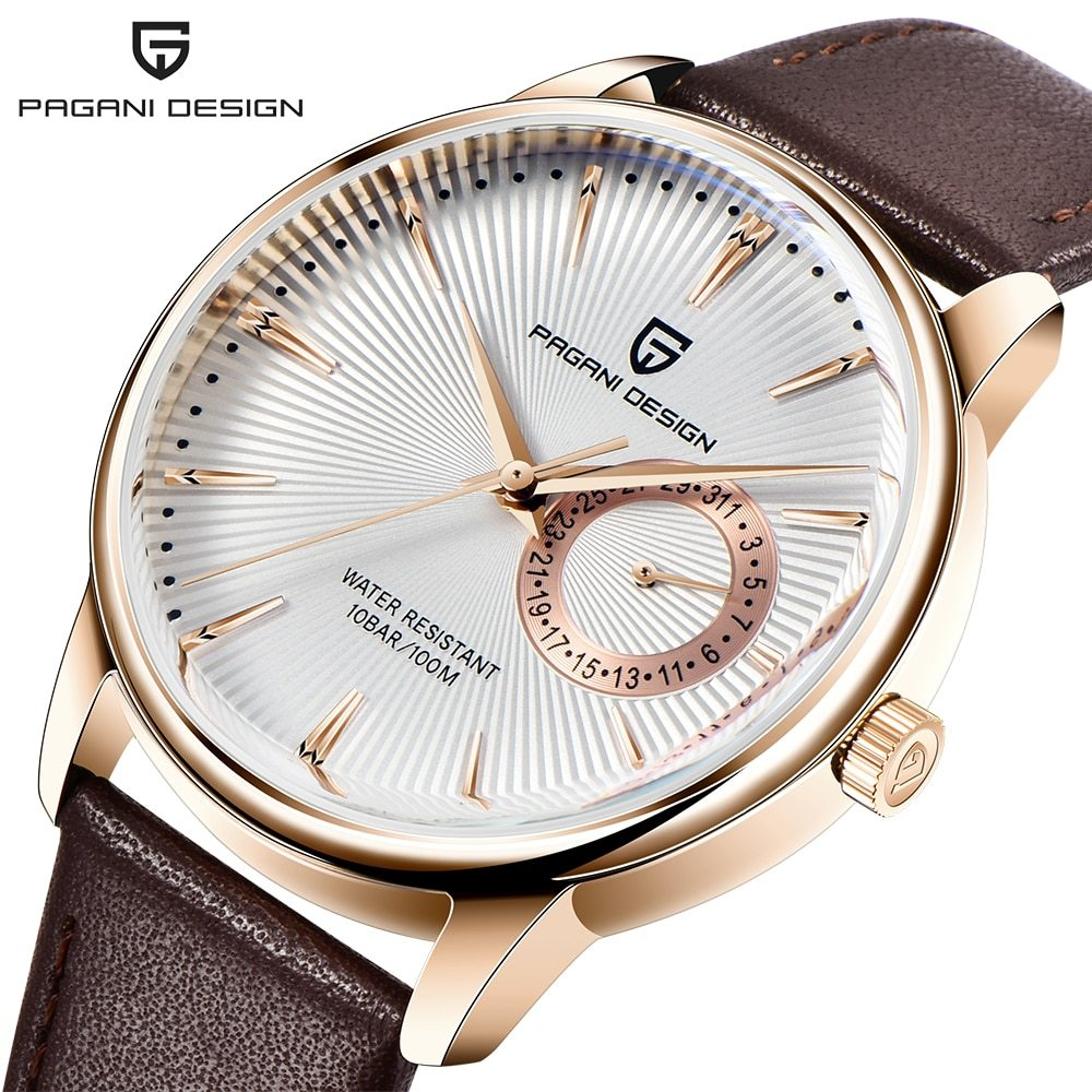 ファッションカジュアルスポーツ腕時計メンズミリタリー腕時計レロジオmasculino男性時計の高級防水クォーツ時計_③Rose gold white