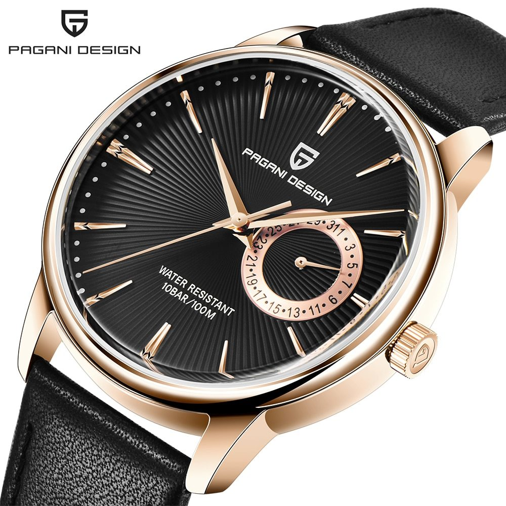 ファッションカジュアルスポーツ腕時計メンズミリタリー腕時計レロジオmasculino男性時計の高級防水クォーツ時計_②Rose gold black