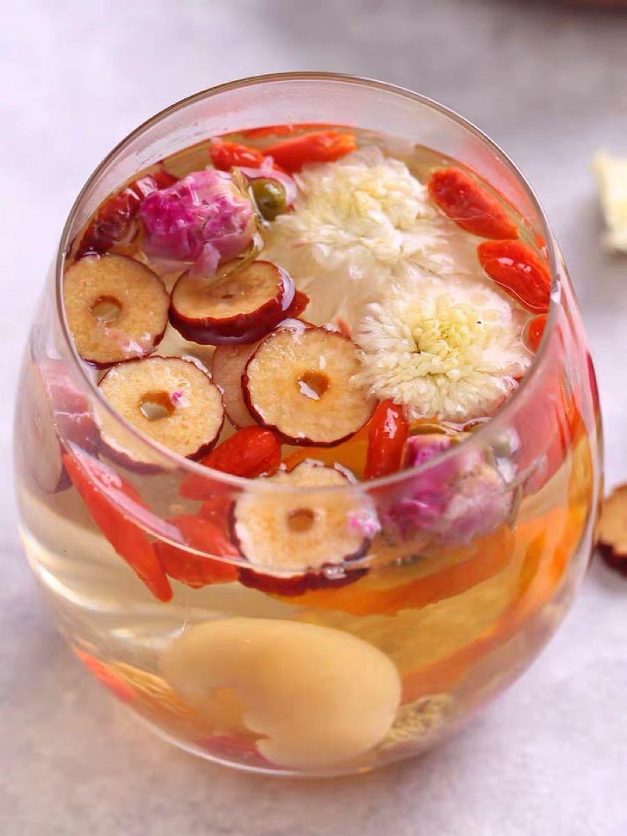 バラ八宝茶ローゼルティー健康薬膳茶 漢方茶 美容茶