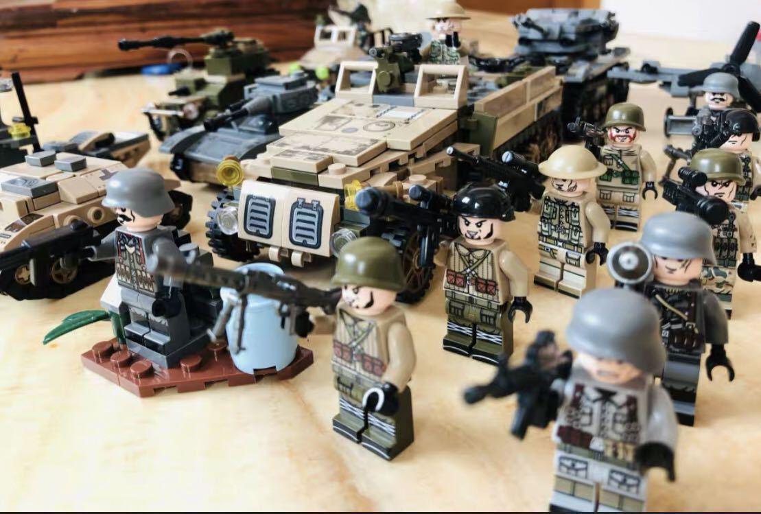 翌日発送 第二次世界大戦 武器つきセット 戦争軍人軍隊マンミニフィグ LEGO 互換 ブロック ミニフィギュア レゴ 互換 1061pcs_画像1