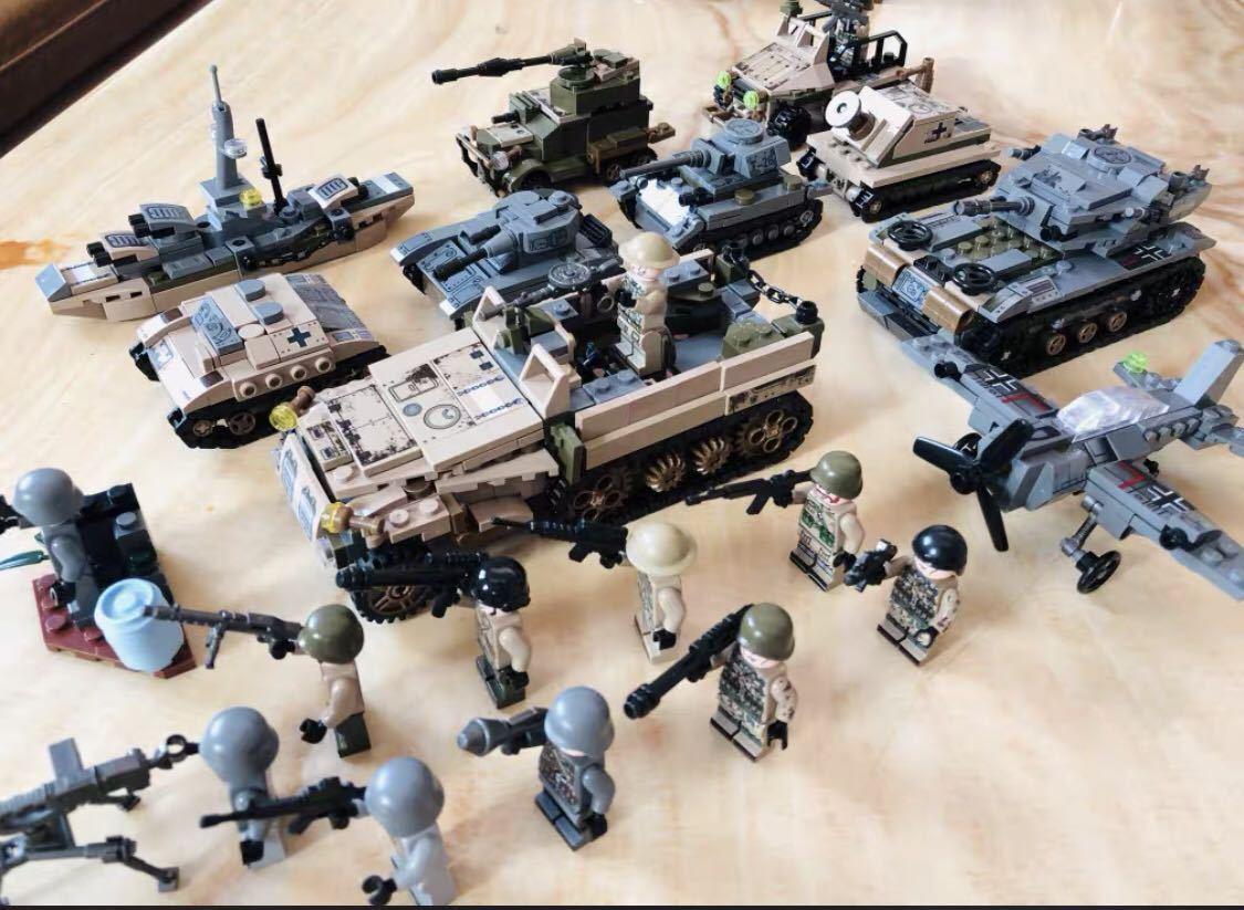 翌日発送 第二次世界大戦 武器つきセット 戦争軍人軍隊マンミニフィグ LEGO 互換 ブロック ミニフィギュア レゴ 互換 1061pcs_画像2
