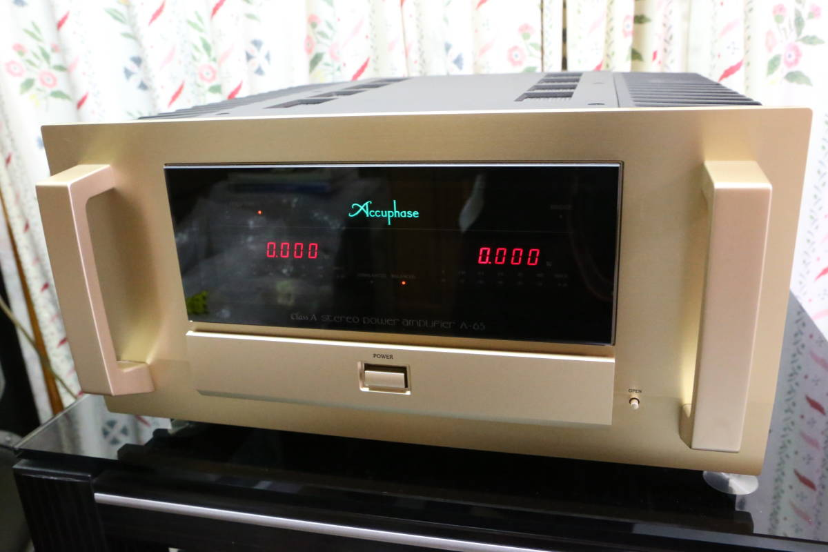 ★Accuphase アキュフェーズ パワーアンプ A-65 完動品★【美品】1円スタート