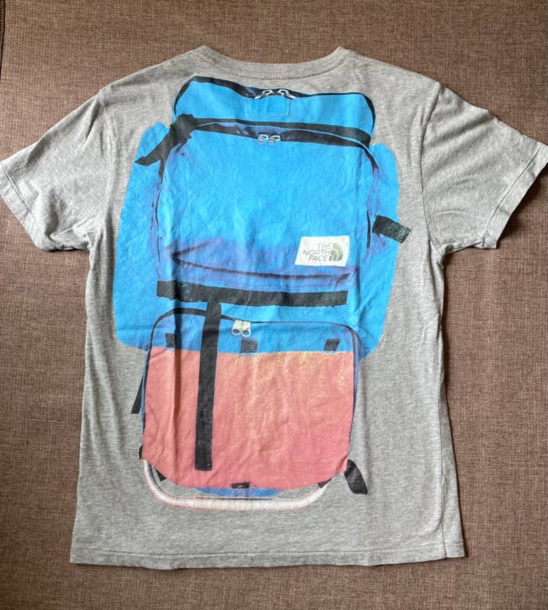 The North Face ザ・ノースフェイス ビンテージ レア Tシャツ S デイパック リュック バッグパック フォトプリント 騙し絵