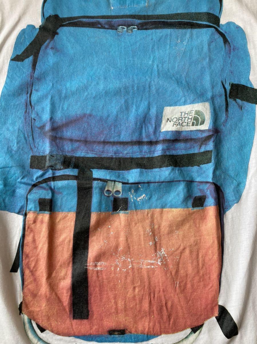 The North Face ザ・ノースフェイス ビンテージ レア Tシャツ L デイパック リュック バッグパック フォトプリント 騙し絵 茶タグ