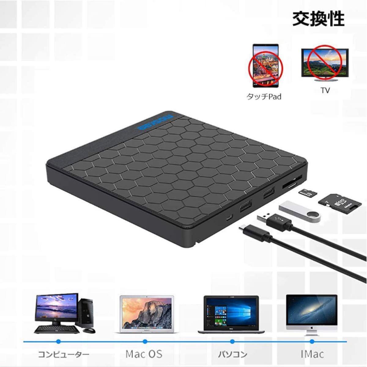 USB3.0 外付け DVD/CDドライブ プレイヤー