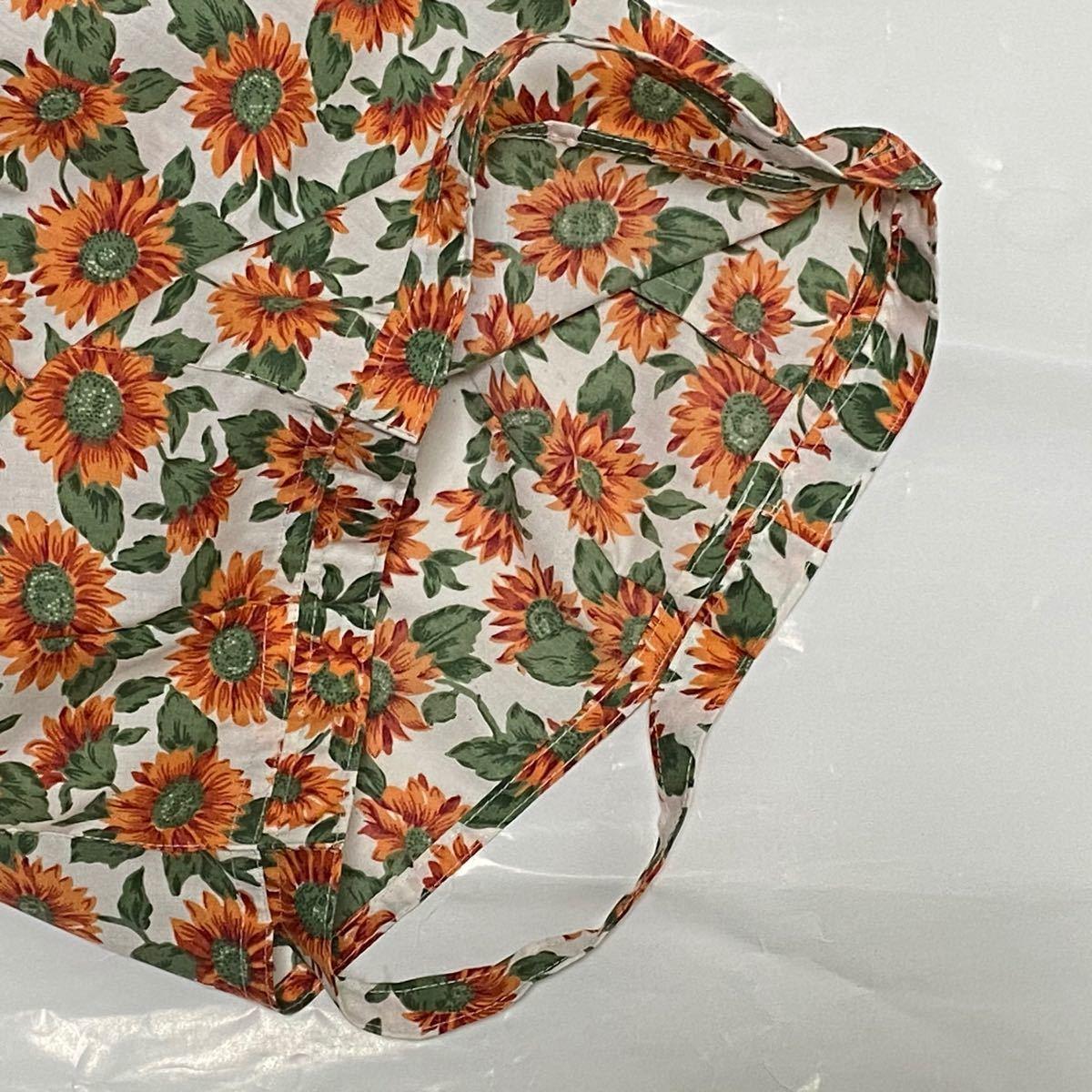 【マチ付き】ハンカチエコバッグ 花柄、無地 折りたたみバッグ ハンドメイド