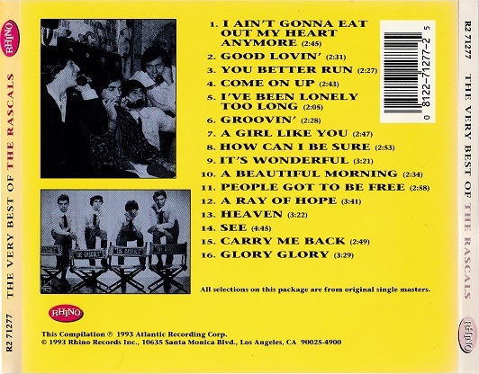 The Rascals / The Very Best Of The Rascals (輸入盤CD) Rhino Records ラスカルズ