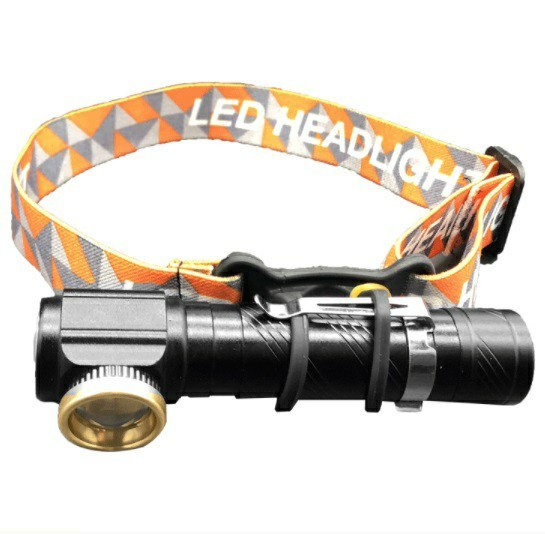 LED ヘッドライト USB充電式 懐中電灯 フラッシュライト 強力 180°調整