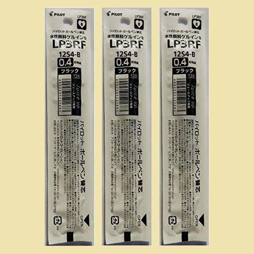 セール 新品 ジュ-ス パイロット 7-XD LP3RF12S4B 3本組み アップ専用 ゲルインキボ-ルペン替芯 0.4mm_画像1